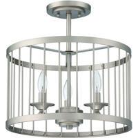 Craftmade 39453-SN Villa 3 Light 16 inch Satin Nickel Semi-Flushmount Ceiling Light Cage