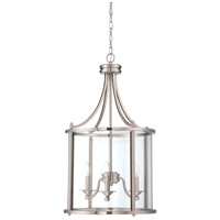 Craftmade 39533-BNK Carlton 3 Light 18 inch Brushed Nickel Pendant Ceiling Light in Brushed Polished Nickel