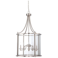 Craftmade 39535-BNK Carlton 5 Light 22 inch Brushed Nickel Pendant Ceiling Light in Brushed Polished Nickel