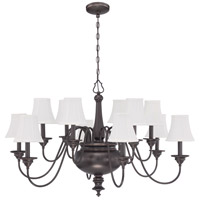 Beaumont 12 Light 39 inch Legacy Brass Chandelier Ceiling Light in Silk Fabric