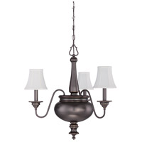 Beaumont 3 Light 25 inch Legacy Brass Chandelier Ceiling Light in Silk Fabric