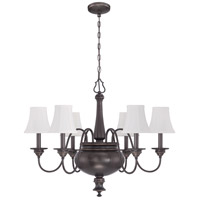 Beaumont 6 Light 30 inch Legacy Brass Chandelier Ceiling Light in Silk Fabric