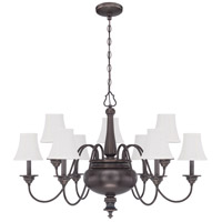 Beaumont 9 Light 37 inch Legacy Brass Chandelier Ceiling Light in Silk Fabric