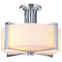 Albany 3 Light 16 inch Chrome Semi Flush Ceiling Light