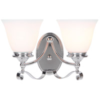 Craftmade 39802-CH Chelsea 2 Light 14 inch Chrome Vanity Light Wall Light, Jeremiah