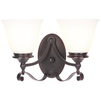 Craftmade 39802-OBG Chelsea 2 Light 14 inch Oiled Bronze Gilded Vanity Light Wall Light, Jeremiah