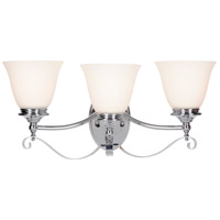 Chelsea 3 Light 22 inch Chrome Vanity Light Wall Light, Jeremiah