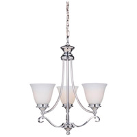 Chelsea 3 Light 20 inch Chrome Chandelier Ceiling Light, Jeremiah