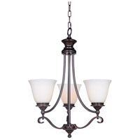 Chelsea 3 Light 20 inch Oiled Bronze Gilded Chandelier Ceiling Light, Jeremiah