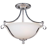 Craftmade 39853-CH Chelsea 3 Light 17 inch Chrome Semi Flush Mount Ceiling Light, Jeremiah