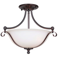 Chelsea 3 Light 17 inch Oiled Bronze Gilded Semi Flush Mount Ceiling Light, Jeremiah