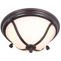Chelsea 3 Light 16 inch Oil Bronze Gilded Flush Mount Ceiling Light in Oiled Bronze Gilded, Jeremiah