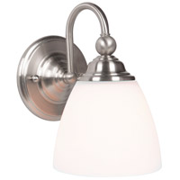 Jeremiah by Craftmade Brighton 1 Light Wall Sconce in Brushed Polished Nickel 39901-BNK