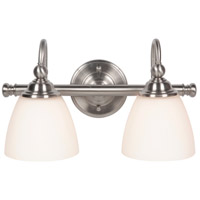 Jeremiah by Craftmade Brighton 2 Light Vanity in Brushed Polished Nickel 39902-BNK
