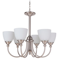 Brighton 6 Light 26 inch Brushed Polished Nickel Chandelier Ceiling Light