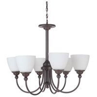 Craftmade 39926-ESP Brighton 6 Light 26 inch Espresso Chandelier Ceiling Light