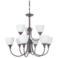 Craftmade 39929-ESP Brighton 9 Light 32 inch Espresso Chandelier Ceiling Light