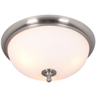 Craftmade 39983-BNK Brighton 3 Light 19 inch Brushed Polished Nickel Flushmount Ceiling Light