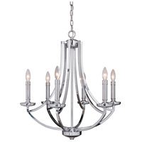 Craftmade 40026-CH Hayden 6 Light 25 inch Chrome Chandelier Ceiling Light