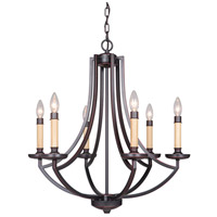 Hayden 6 Light 25 inch Oil Bronze Gilded Chandelier Ceiling Light in Oiled Bronze Gilded, Jeremiah