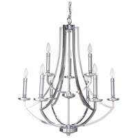 Craftmade 40029-CH Hayden 9 Light 28 inch Chrome Chandelier Ceiling Light