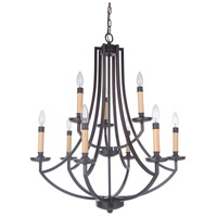 Hayden 9 Light 28 inch Oil Bronze Gilded Chandelier Ceiling Light in Oiled Bronze Gilded, Jeremiah
