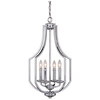 Hayden 4 Light 16 inch Chrome Foyer Light Ceiling Light