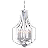 Hayden 6 Light 18 inch Chrome Foyer Light Ceiling Light