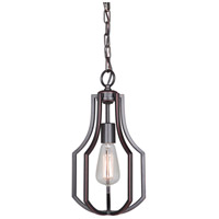 Craftmade 40091-OBG Hayden 1 Light 8 inch Oiled Bronze Gilded Mini Pendant Ceiling Light, Jeremiah