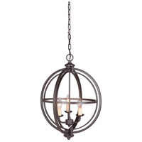 Berkeley 3 Light 17 inch Espresso Foyer Light Ceiling Light, Jeremiah