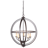 Espresso Steel Foyer Pendants