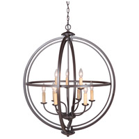 Berkeley 9 Light 30 inch Espresso Foyer Ceiling Light, Jeremiah