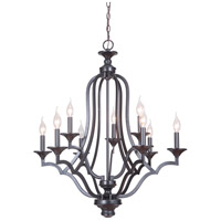 Gabriella 9 Light 30 inch Matte Black Chandelier Ceiling Light, Jeremiah