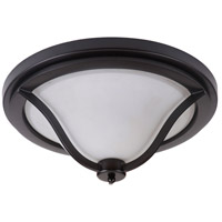 Gabriella 3 Light 17 inch Matte Black Flush Mount Ceiling Light, Jeremiah