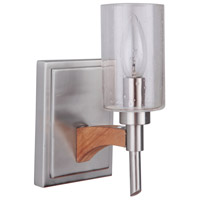 Craftmade 40301-BNKWB Tahoe 1 Light 4 inch Brushed Nickel and Whiskey Barrel Wall Sconce Wall Light in Brushed Nickel/Whiskey Barrel, Jeremiah