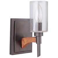 Craftmade 40301-ESPWB Tahoe 1 Light 4 inch Espresso and Whiskey Barrel Wall Sconce Wall Light in Espresso/Whiskey Barrel, Jeremiah