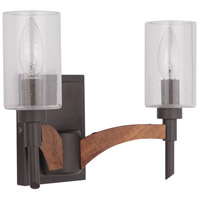 Craftmade 40302-ESPWB Tahoe 2 Light 12 inch Espresso and Whiskey Barrel Vanity Light Wall Light in Espresso/Whiskey Barrel, Jeremiah