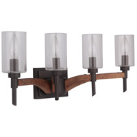 Craftmade 40304-ESPWB Tahoe 4 Light 23 inch Espresso and Whiskey Barrel Vanity Light Wall Light in Espresso/Whiskey Barrel, Jeremiah