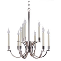 Crescent 9 Light 25 inch Polished Nickel Chandelier Ceiling Light, Jeremiah