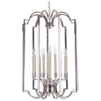 Crescent 10 Light 24 inch Polished Nickel Foyer Ceiling Light, Jeremiah