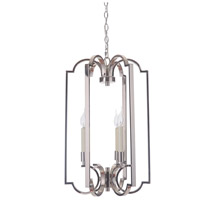 Crescent 3 Light 16 inch Polished Nickel Foyer Light Ceiling Light, Jeremiah