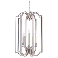 Crescent 5 Light 20 inch Polished Nickel Foyer Light Ceiling Light, Jeremiah