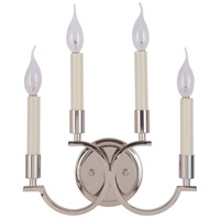 Crescent 4 Light 13 inch Polished Nickel Wall Sconce Wall Light, Jeremiah