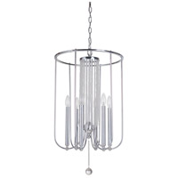 Cascade 6 Light 16 inch Chrome Foyer Ceiling Light