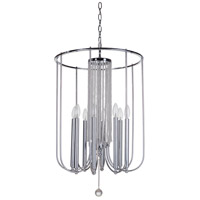 Cascade 8 Light 19 inch Chrome Foyer Ceiling Light