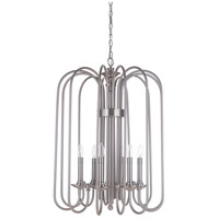 Avery 6 Light 22 inch Polished Nickel Foyer Light Ceiling Light
