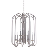 Craftmade 40739-PLN Avery 9 Light 28 inch Polished Nickel Foyer Light Ceiling Light