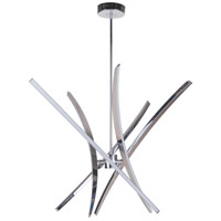 Aura LED 19 inch Chrome Chandelier Ceiling Light