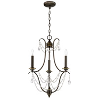 Lilith 3 Light 18 inch Legacy Brass Chandelier Ceiling Light, Jeremiah