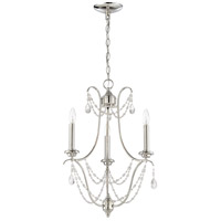 Craftmade 41123-PLN Lilith 3 Light 18 inch Polished Nickel Chandelier Ceiling Light, Jeremiah